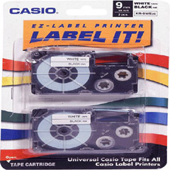 Casio XR9-WE/2S Label Tape for CWL-300