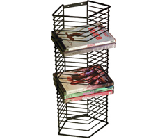 Atlantic 1331 Onyx Black Wire DVD Rack