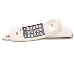 AT&T TL-210 WH Trimline Telephone With Memory - White