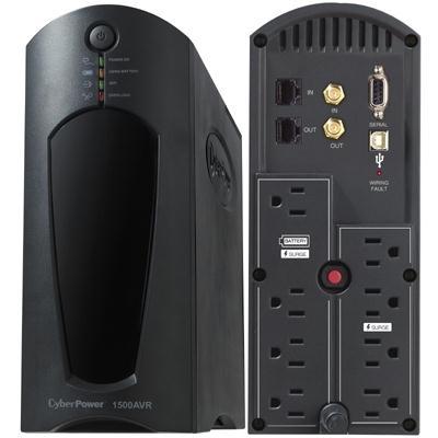 Cyberpower 1500VA/900W UPS w/PowerPanel CP1500AVRT