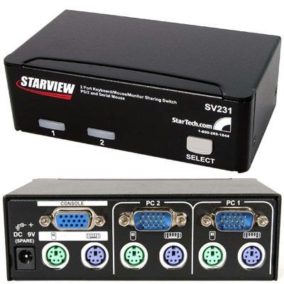 Startech 2 Port PS/2 Serial KVM SV231
