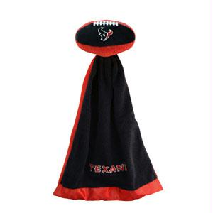Football Sportswear - Houston Texans Plush NFL Football With Attached Security Blanket By Coed Sportswear