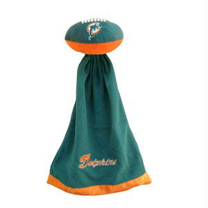 In Sportswear - Miami Dolphins Plush NFL Football With Attached Security Blanket By Coed Sportswear