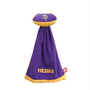 Football Sportswear - Minnesota Vikings Plush NFL Football With Attached Security Blanket By Coed Sportswear
