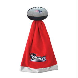 Football Sportswear - New England Patriots Plush NFL Football With Attached Security Blanket By Coed Sportswear