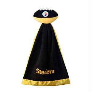 Football Sportswear - Pittsburgh Steelers Plush NFL Football With Attached Security Blanket By Coed Sportswear