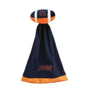 Auburn Sportswear - Auburn Tigers Plush NCAA Football With Attached Security Blanket By Coed Sportswear