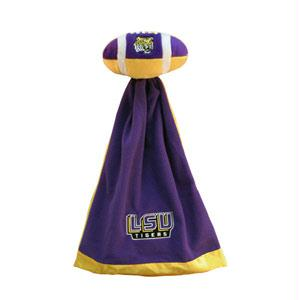 Football Sportswear - Louisiana State Fightin Tigers Plush NCAA Football With Attached Security Blanket By Coed Sportswear