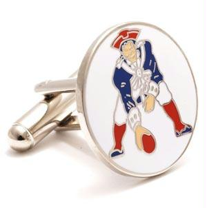 Vintage Cufflinks - Vintage New England Patriots NFL Logo'd Executive Cufflinks With Jewelry Box