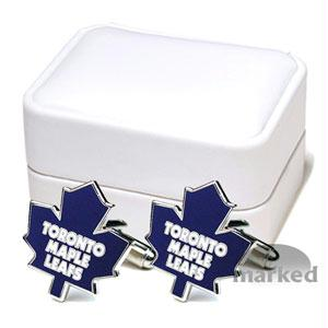 Cufflinks And Toronto - Toronto Maple Leafs NHL Logo'd Executive Cufflinks With Jewelry Box By Cuff Links