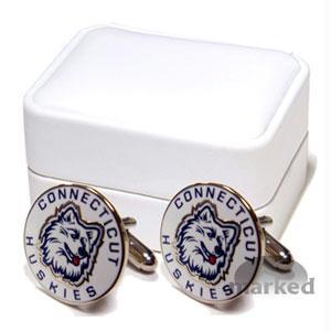 Ncaa Cufflinks - Connecticut Huskies NCAA Logo'd Executive Cufflinks WgiJewelry Box By Cuff Links