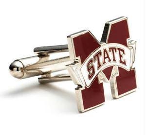 Ncaa Cufflinks - Mississippi State Bulldogs NCAA Logo'd Executive Cufflinks WgiJewelry Box By Cuff Links
