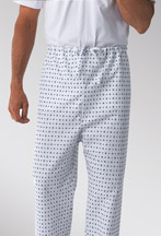 Drawstring Pajamas - MEDLINE INDUSTRIES MDT011069XXXZ Drawstring Pajama Pants - Snowflake Print 3.0 Oz Sq Yd - XXX-Large - 1 Dozen