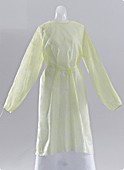 Nursing Gown - MEDLINE INDUSTRIES CRI4000 Classic Protection Gowns - Latex-Free Nursing Home Gowns Yellow - Regular Size - 1 Case