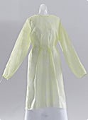 Nursing Gowns - MEDLINE INDUSTRIES CRI4001 Classic Protection Gowns - Latex-Free Nursing Home Gowns Yellow - X-Large - 1 Case