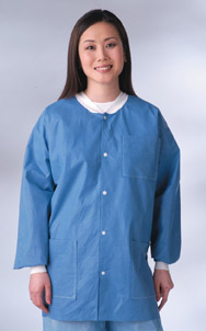 Lab Jackets - MEDLINE INDUSTRIES NONRP600L Antistatic Classic Lab Jackets - Blue Latex-Free - Large - 1 Case