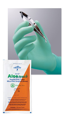 Surgical Gloves - MEDLINE INDUSTRIES MDS204065Z Aloetouch MicroThin Surgical Gloves - Size 6 1 2 - 1 Box