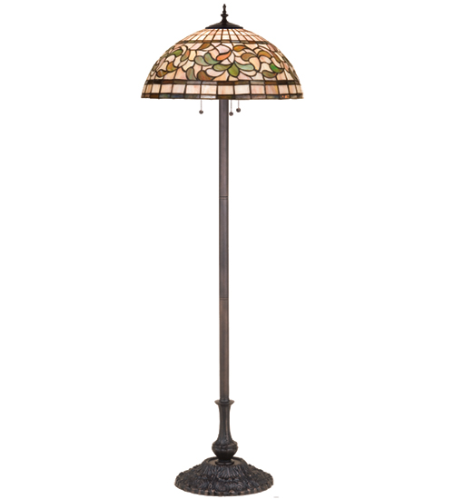 Meyda Tiffany 17534 63 Inch H Turning Leaf Floor Lamp
