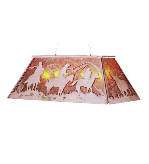 Meyda Tiffany 36133 60 Inch L Western Oblong Pendant