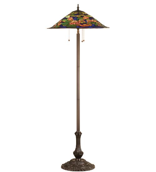 Meyda Tiffany 32301 64 Inch H Tiffany Pond Lily Floor Lamp