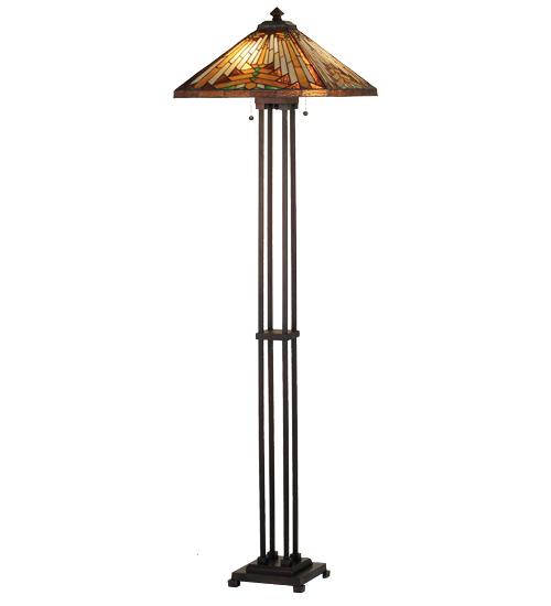 Meyda Tiffany 66228 63 in. H Nuevo Mission Floor Lamp