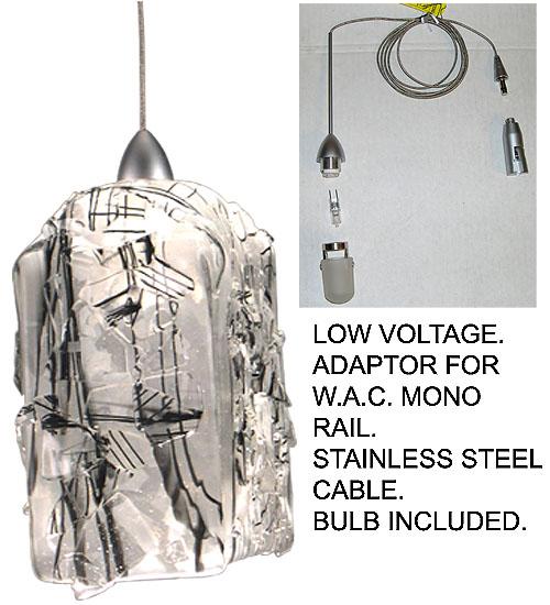 Meyda Tiffany 19473 4 Inch Sq Licorice Draped Fused Glass Mini Pendant