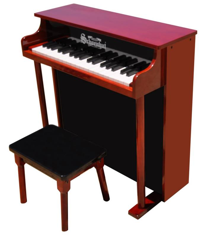 Schoenhut Toy Piano 6637MB 37 key Mahogany & Black Classic Spinet