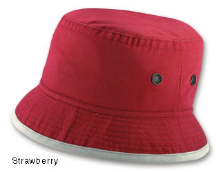 Bucket Hats - Capco 9100T Bucket Hat Washed Brushed Cotton Twill With Metal Eyelets 2-Tone