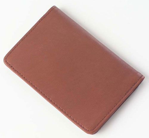 Clava 2103 Flap-Over Card Holder - Quinley Tan