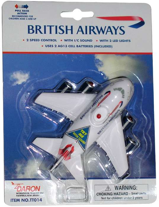 Daron Worldwide Trading TT014 British Airways Pullback with Light and Sound
