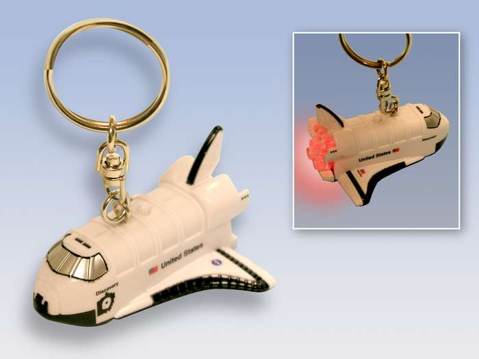 Daron Worldwide Trading TT80477 Space Shuttle Keychain with Light and Sound