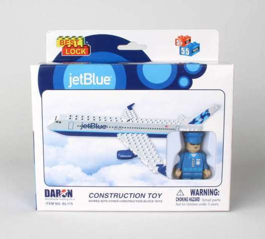 Daron Worldwide Trading  BL175 Jet Blue 55 Piece Construction Toy