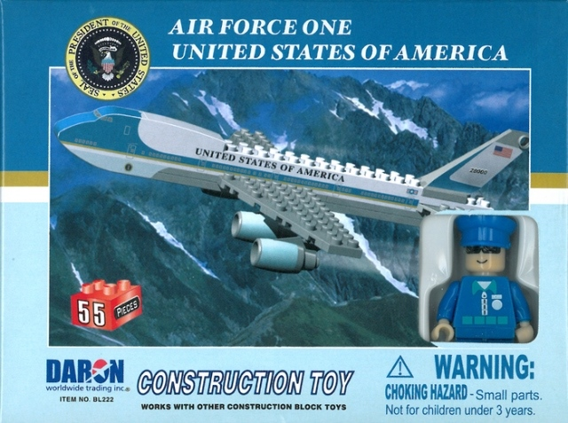 Daron Worldwide Trading  BL222 Air Force One 55 Piece Construction Toy