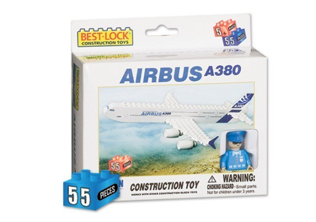 Daron Worldwide Trading  BL380 Airbus A380 55 Piece Construction Toy