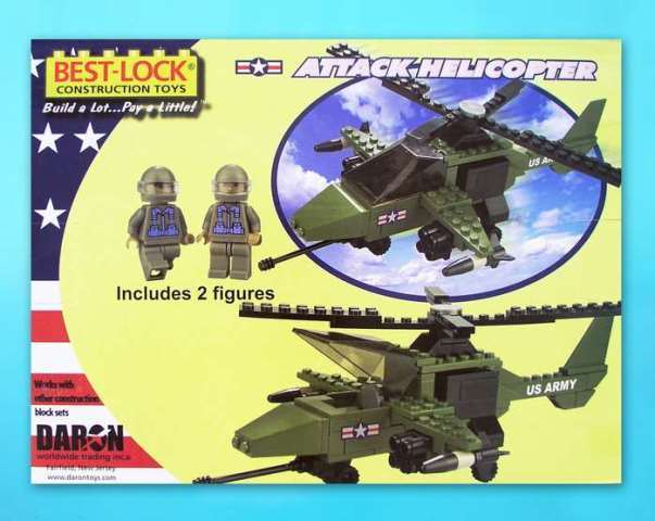 Daron Worldwide Trading  BL5561 Attack Helicopter 140 Piece Construction Toy DARON714