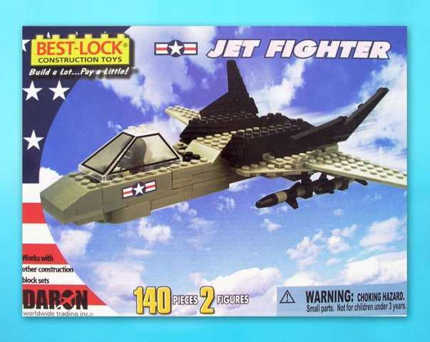 Daron Worldwide Trading  BL5635 Jet Fighter 140 Piece Construction Toy