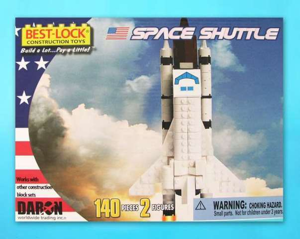 Daron Worldwide Trading  BL5740 Space Shuttle 140 Piece Construction Toy DARON716