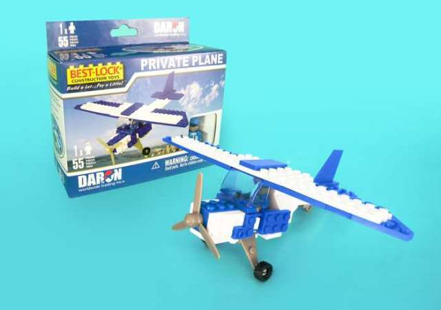 Daron Worldwide Trading  BL999 Cessna 55 Piece Construction Toy