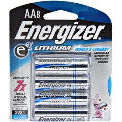 Energizer L91BP-8 High-Energy AA Lithium Batteries