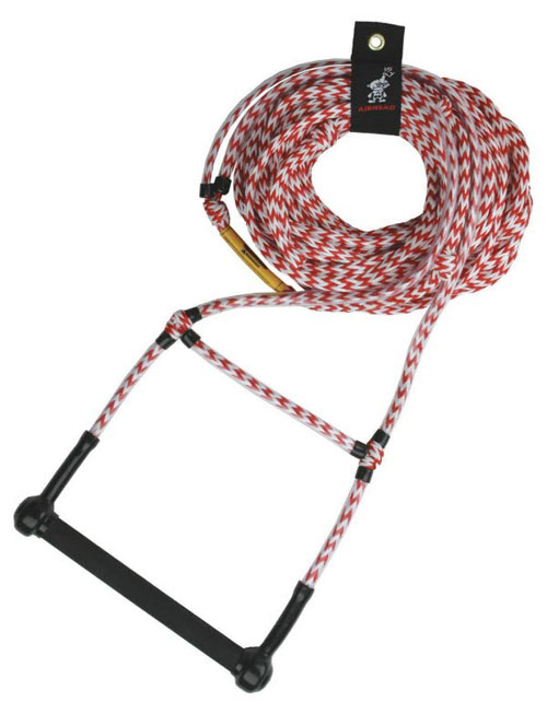 Airhead AHSR-2 Water Ski Rope Deluxe 75 ft. Deep V Finger Guards
