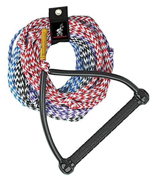 Airhead AHSR-4 Water Ski Rope 75 ft. 4-section Tractor Handle