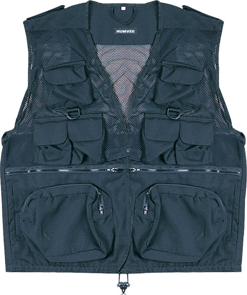 Tactical Vest - Humvee HMV-VC-BK-M Humvee Combat Black Tactical Vest Medium