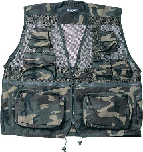 Tactical Vests - Humvee HMV-VC-C-3XL Humvee Combat Camo Tactical Vest 3XL