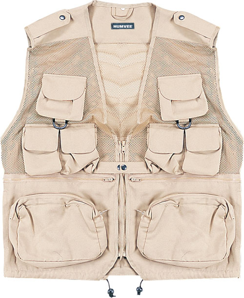 Tactical Vest - Humvee HMV-VC-K-M Humvee Combat Tactical Vest Khaki Medium