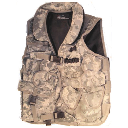 Tactical Vests - Airsoft ST31A ACU Tactical Vest With Soft Collar