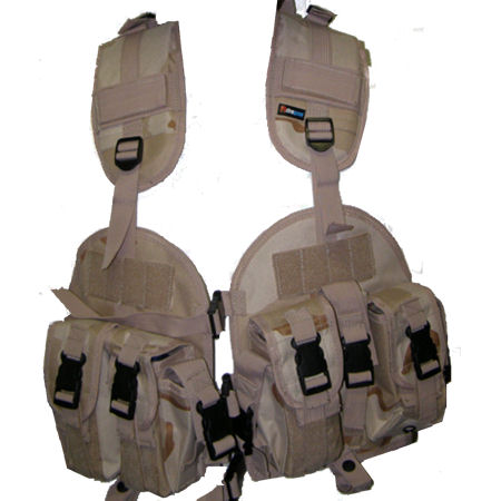 Tactical Vest - Airsoft ST32D Desert Tan Tactical Vest With Removable Hydration Pocket