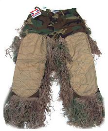 Bdu Pants - GhillieSuits.com S-BDU-P-Mossy-Small Sniper Ghillie Pants Mossy Small