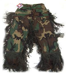 Bdu Pants - GhillieSuits.com S-BDU-P-Woodland-XXL Sniper Ghillie Pants Woodland XXL