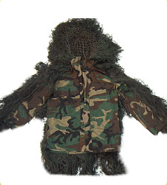 Ghillie Suits - GhillieSuits.com S-BDU-J-Woodland-XXL Sniper Ghillie Suit Jacket Woodland XXL