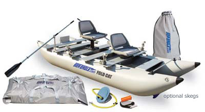 Sea Eagle 375fcpro Sea Eagle 12 Foot Foldcat Catamaran Pro Angler Package image